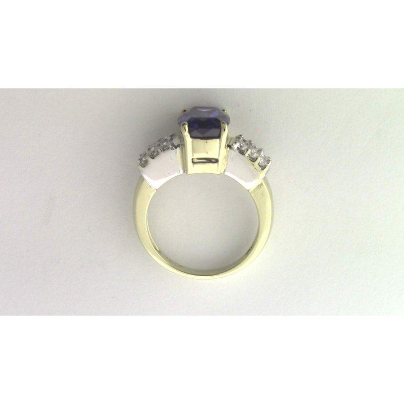 Pugh's Signature 18k Yellow And White Gold Tanzanite Ring