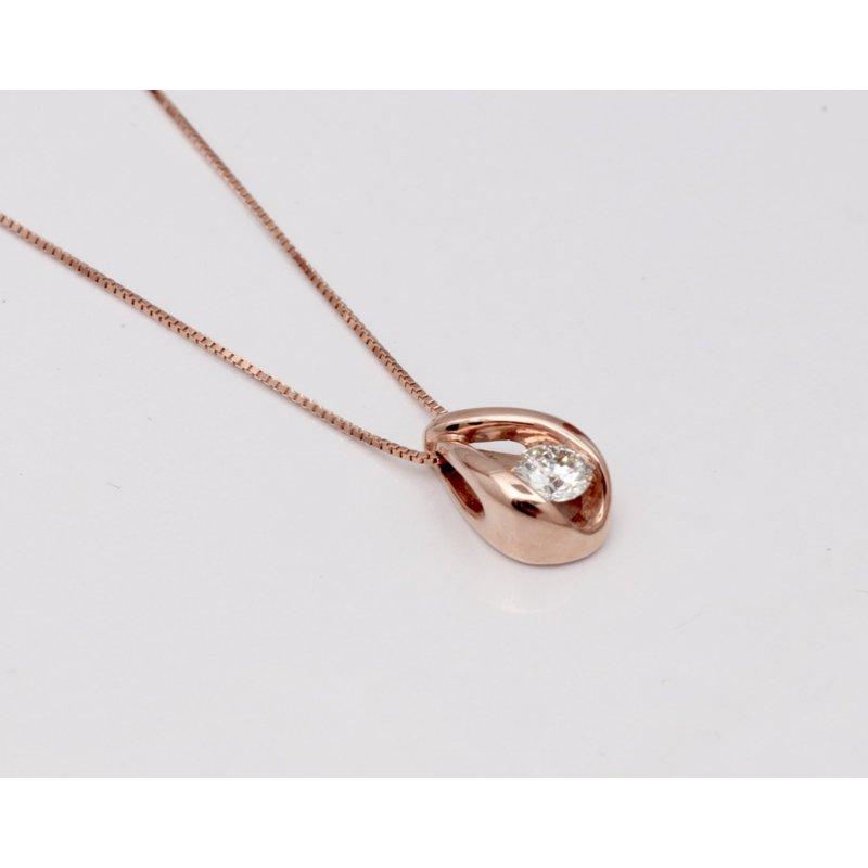 Pugh's Signature Ladies' 14k Rose Gold Diamond Pendant