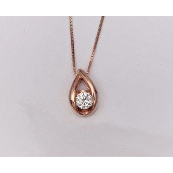 Ladies' 14k Rose Gold Diamond Pendant