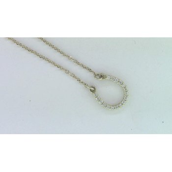 Ladies' 14k Yellow Gold Diamond Necklace