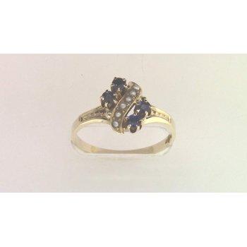 14k Yellow Gold Sapphire Ring