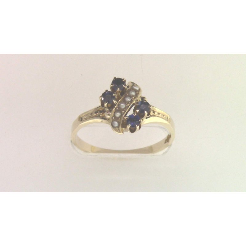 Pugh's Signature 14k Yellow Gold Sapphire Ring
