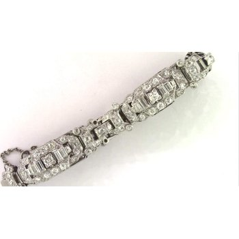 Ladies' 14k White Gold Diamond Bracelet