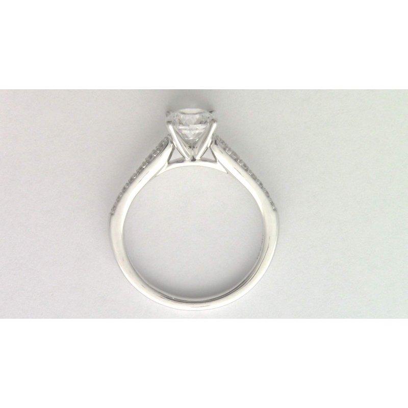 Pugh's Signature 14k White Gold Cubic Zirconia Ring