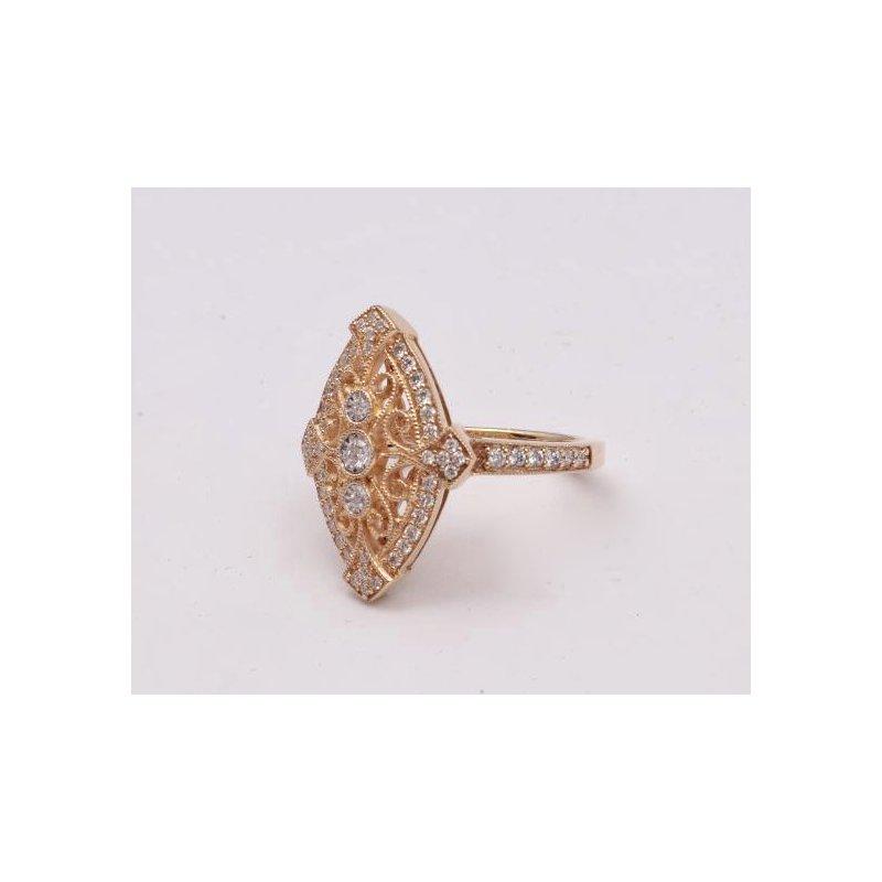 Allison-Kaufman 14k Yellow Gold Diamond Ring