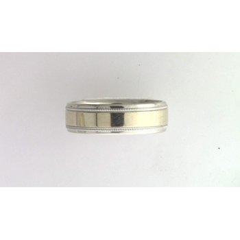 Gentlemans' 14k White And Yellow Gold Ring