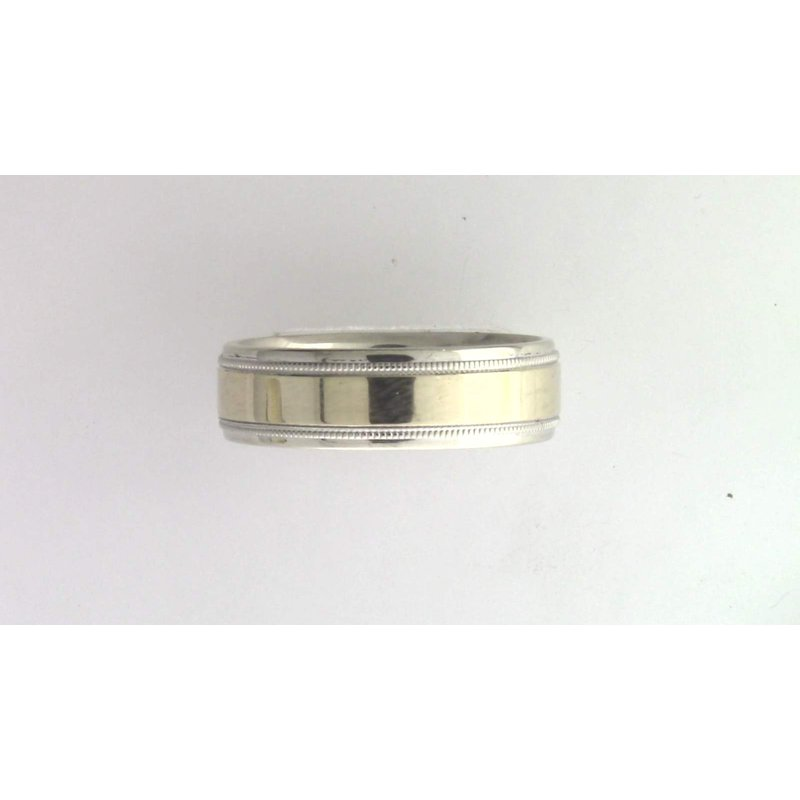Pugh's Signature Gentlemans' 14k White And Yellow Gold Ring