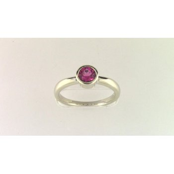 Ladies' 14k White Gold Pink Tourmaline Ring