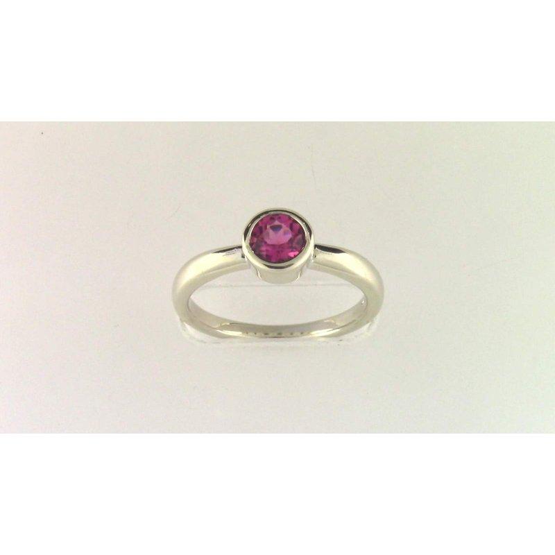 Pugh's Signature Ladies' 14k White Gold Pink Tourmaline Ring