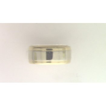 14k White And Yellow Gold Band