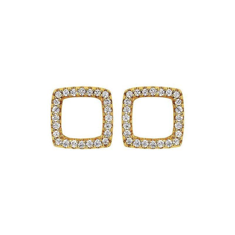 Ostbye Ladies' 14k Yellow Gold Diamond Earrings