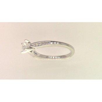 Ladies' 14k White Gold CZ Ring