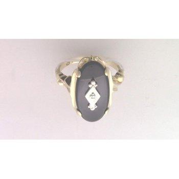 14k Yellow Gold Black Onyx Ring