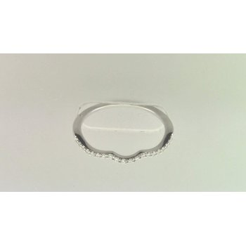 Ladies' 14k White Gold Diamond Band