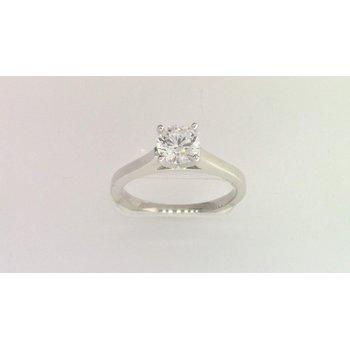14k White Gold 6 Mm CZ Ring