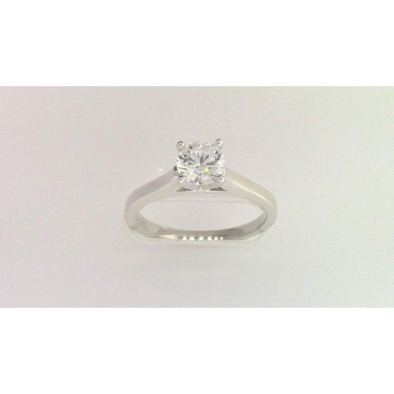 Pugh's Signature 14k White Gold 6 Mm CZ Ring