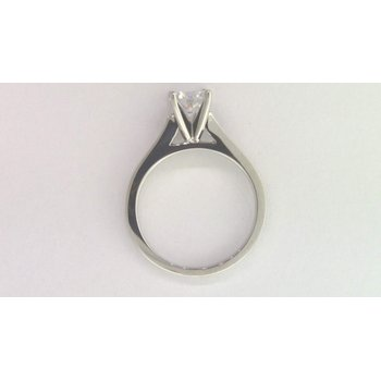 14k White Gold 6 Mm CZ Ring