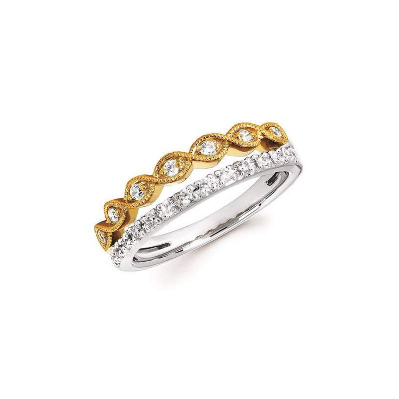 Ostbye 14k White And Yellow Gold Diamond Ring