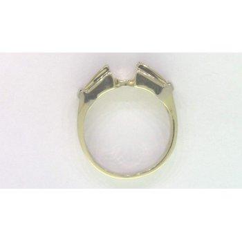 14k Yellow Gold Diamond Semi Mount Ring