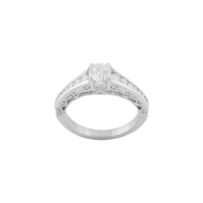 Pugh's Signature Ladies' Cz Stone Diamond Semi Mount Ring
