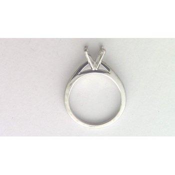 18k White Gold Ring Mounting