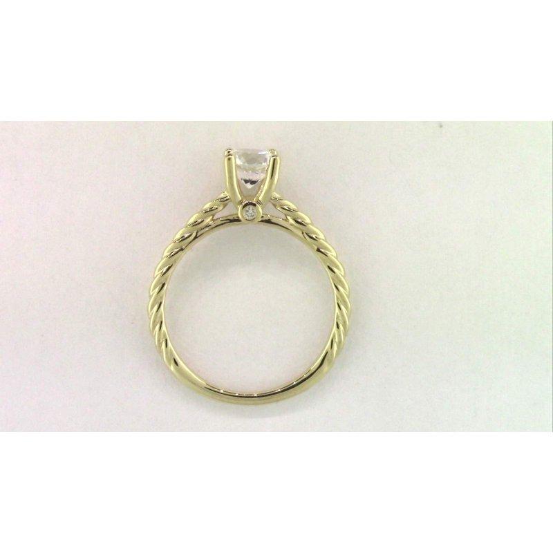 Pugh's Signature 14k Yellow Gold Cz Stone Diamond Semi Mount Ring