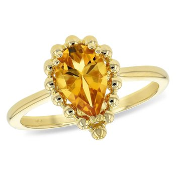 Ladies' 14k Yellow Gold Citrine Quartz Ring