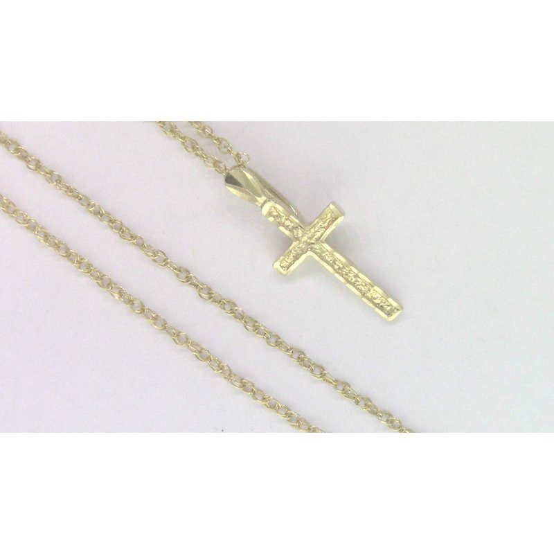 Pugh's Signature 14k Yellow Gold Cross