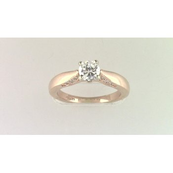 Ladies' 14k Rose Gold Cz Stone Semi Mount Ring