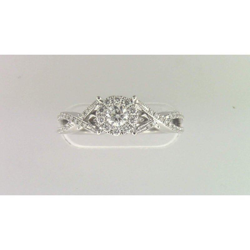 Zeghani Ladies' 14k White Gold Diamond Ring