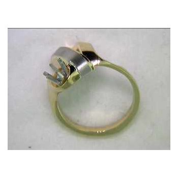 14k White And Yellow Gold Ring Mounting