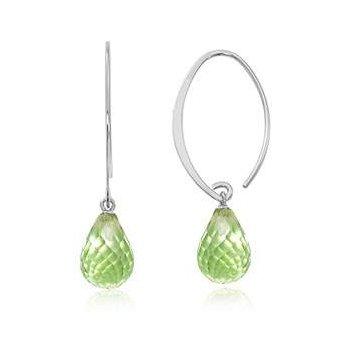 Ladies' 14k White Gold Peridot Earrings