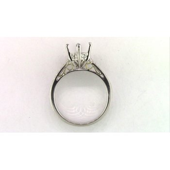Ladies' 18k White Gold Diamond Ring