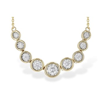 Ladies' 14k Yellow Gold Diamond Necklace