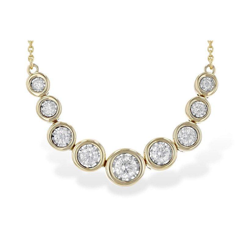 Allison-Kaufman Ladies' 14k Yellow Gold Diamond Necklace