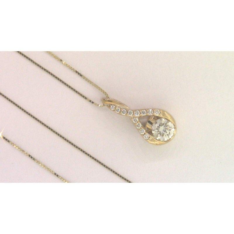 Pugh's Signature 10k Yellow Gold Diamond Pendant