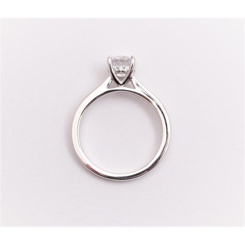 Pugh's Signature 14k White Gold Cubic Zirconia Semi Mount Ring