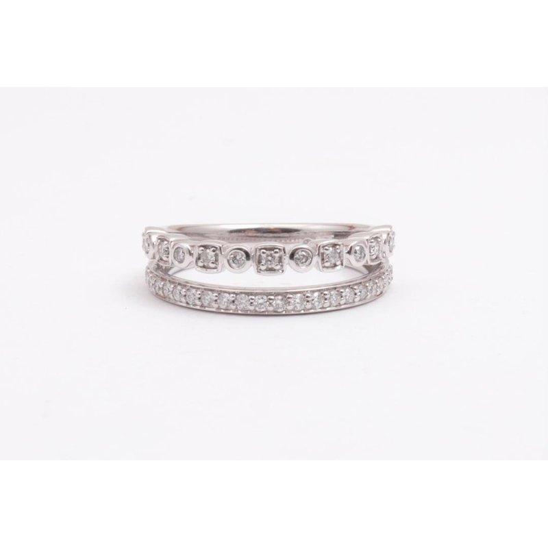 Ostbye 14k White Gold Diamond Ring