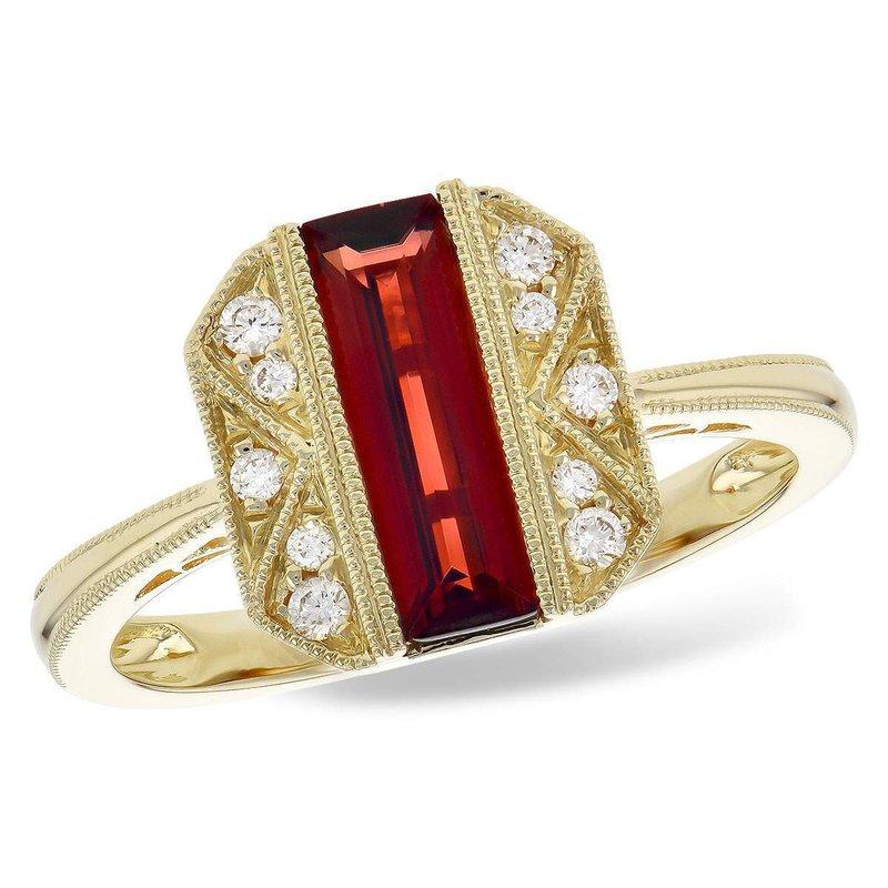 Allison-Kaufman 14k Yellow Gold Garnet Ring