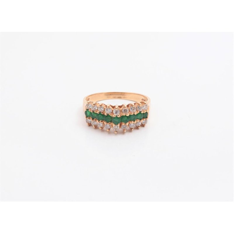 Pugh's Signature 14k Yellow Gold Emerald Ring