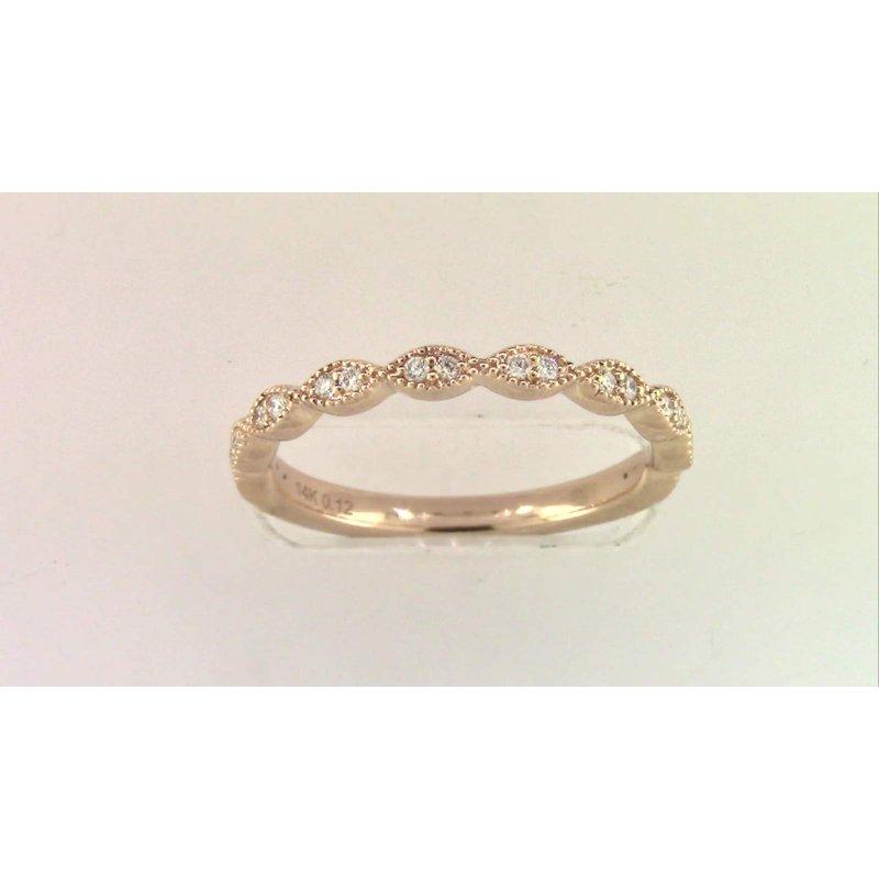 Pugh's Signature Ladies' 14k Rose Gold Diamond Ring