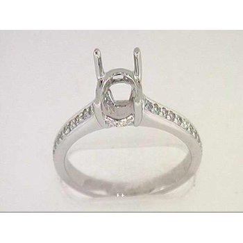 14k White Gold Diamond Semi Mounting