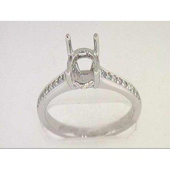14k White Gold Diamond Semi Mounting