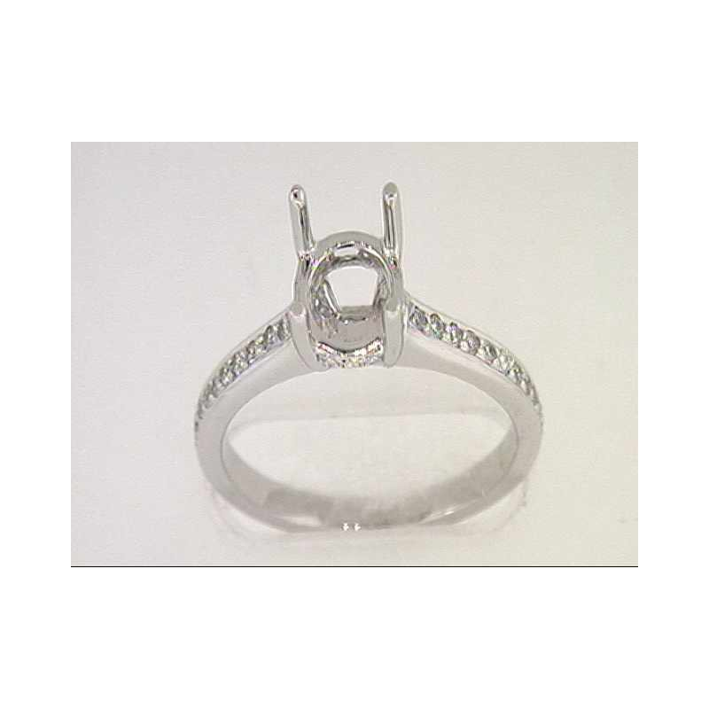 Pugh's Signature 14k White Gold Diamond Semi Mounting