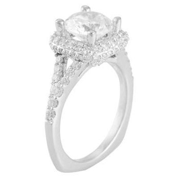 Ladies' 14k White Gold 8.5mm CZ Ring