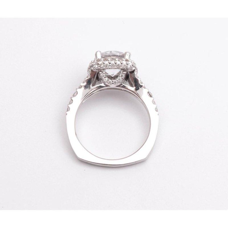 Pugh's Signature Ladies' 14k White Gold 8.5mm CZ Ring