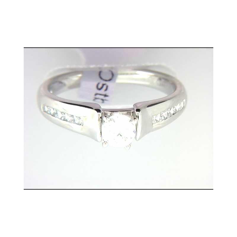 Ostbye Ladies' 14k White Gold CZ Stome Ring