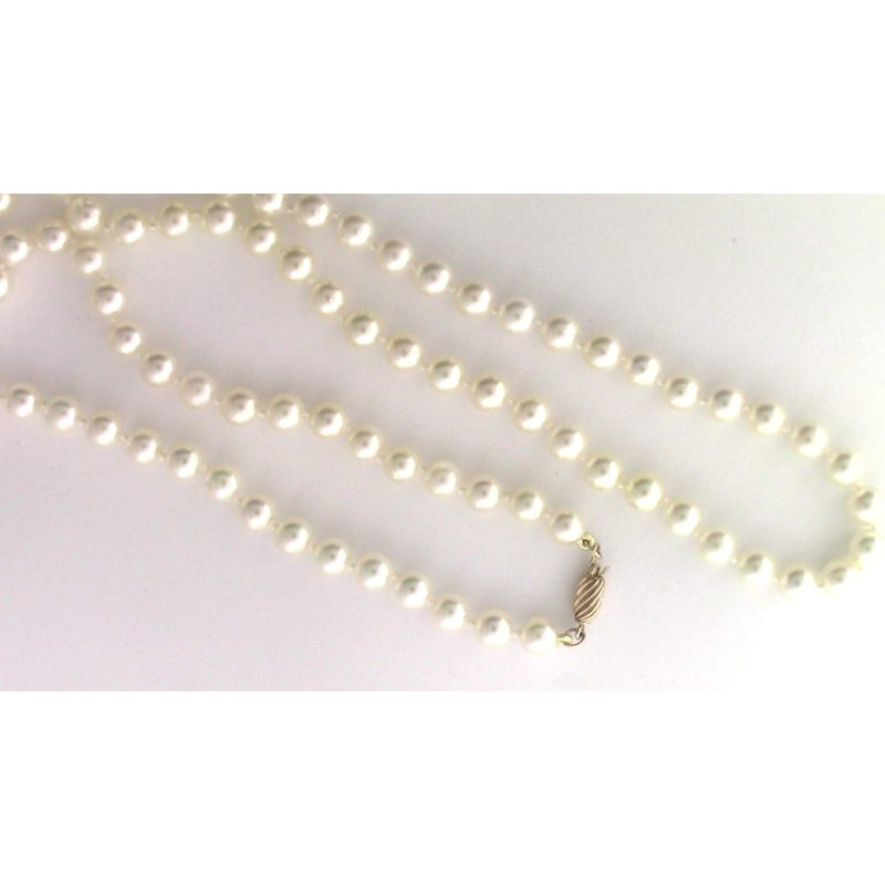 Pugh's Signature 14k Yellow Gold Akoya Cultured Pearl Necklace