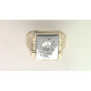 10k Yellow Gold Hematite Ring