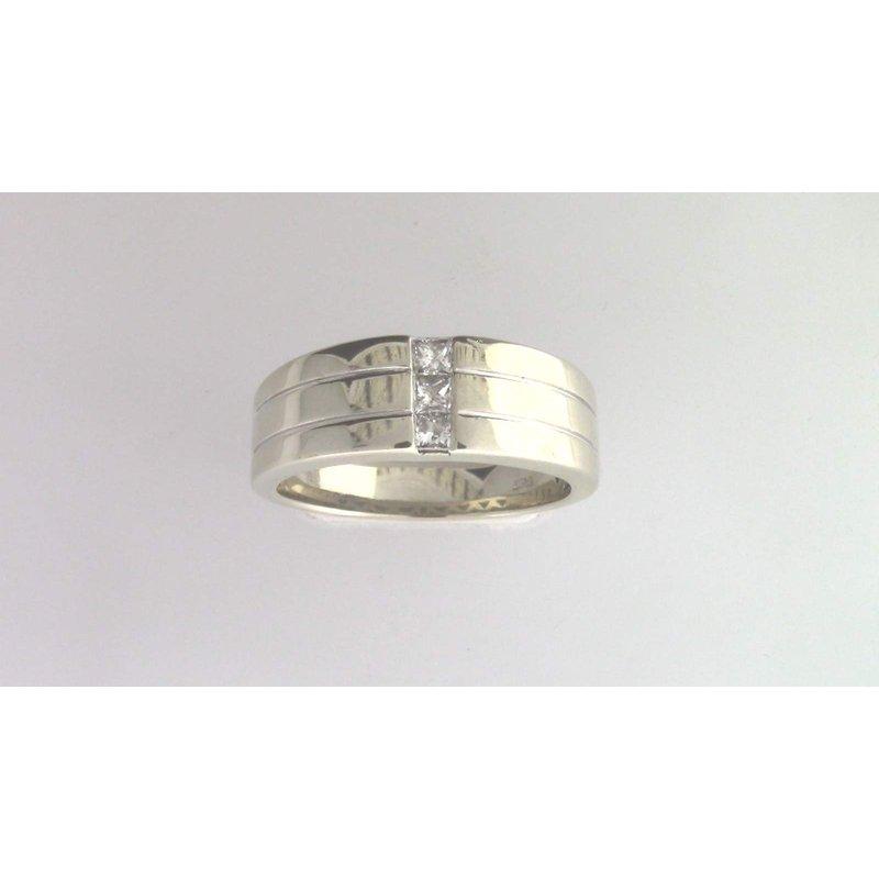 Pugh's Signature Gentlemans' 14k White Gold Diamond Ring